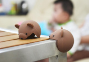 ZLL/ Corner guard for child safety/thickening of the tabletop protect baby table set/cartoon corner bumper stickers , brown