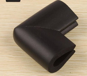ZLL/ Baby safe table coffee table angle corner guard/children/infant protection sleeve u-shaped/glass touch-proof corner thick , black