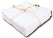 Muslin Nappies Burping Cloth - Can be washed at up to 90°C - Pack of 5 - 70 x 80 cm - White