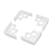 TININNA 8 Pcs Rubber Hollow Out Safety Desk Corner Protection Edge Cushions Cover Guard Protector White