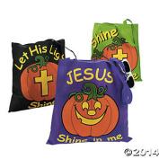 Glow in Dark Halloween Christian Pumpkin Tote Bags