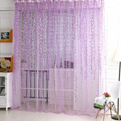 Academyus Room Decor Curtain Sheer Panel Drapes Home Tree Glass Yarn Willow Curtain Tulle