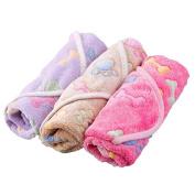 ZHUOTOP Waterproof Stain Resistant Pet Dog Puppy Paw Print Pattern Blanket Mat 104*76cm & Khaki