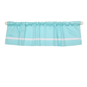 Teal Blue Tailored Window Valance by The Peanut Shell - 100% Cotton Sateen