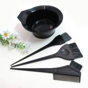 4 PCS Salon Hair Colouring Dyeing Kit Dye Brush Comb Bowl Tint Tool Kit