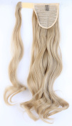 "S-noilite® New 24""(60cm) Curly Ash Blonde Wrap Around Ponytail Clip in Hair Extensions"