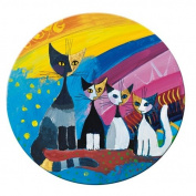 'Fridolin Metal Compact Mirror 7.6 cm Under the Rainbow by Rosina Wachtmeister