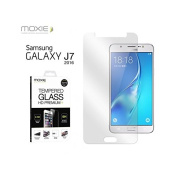 Moxie 2.5D Tempered Glass Screen Protector for for for for for for for Samsung J7 + Accessories in Case
