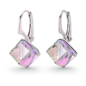Spark Elements Women's Earring Pendants 925 Sterling Silver 925 8 MM Crystal Dice Töne