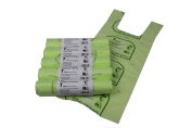 7L x 250 Tie Handle Compostable Kitchen Caddy Liners - Food Waste Bin Liners - EN 13432 - 7 litre Bags
