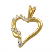GALLAY Women's Pendant Heart Gold-Plated 3 Micron