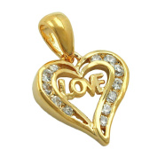 GALLAY Love Heart Women Pendant Gold Plated 3 Micron