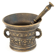 Reproduction of a Mortar with Pestle pharmacist Antique Bronze