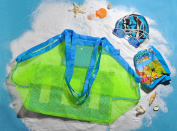 Jessie & Letty Large & Portable Family Size Beach Mesh Bag storage mesh pocket for sand toys beach fashion mesh bag storage bag luggage bag mesh bag