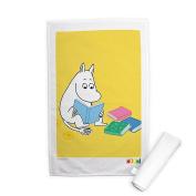 Moomin Moomintroll reading a Book' Print Tea Towel, 70 cm Length x 46 cm Width, multicolour