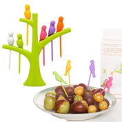 Kolylong Birdie Fruit Fork Birds On The Tree Dessert Cake Dinnerware Party tools