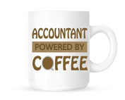Accountant - Powered By Coffee - Fun Novelty Profession Themed Tea/Coffee Mug/Cup - Gift Idea