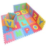 Ardisle 26pc Large Alphabet Play Mat Baby Kids Soft Eva Foam Jigsaw Puzzle Floor Mat Set