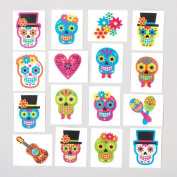 Day of the Dead Temporary Tattoos for Children. Perfect Halloween Party Bag Fillers and Lucky Dip Prizes for Boys and Girls