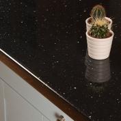 Black Sparkle Effect Laminate Kitchen Worktops - Andromeda