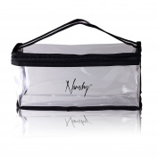 Nanshy Transparent Clear Travel Cosmetic Zip Makeup Bag - See Through - Great for Airport Cabin Flight Holiday Toiletry