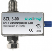 Axing SZU 3-00 adjustable attenuator for Sat with F connectors
