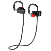 Bluetooth Sports Headphones,Roman Wireless Earphones Stereo Earbuds,Fit for Gym,Running with Built-in Mic,Noise Cancelling,Sweatproof for iPhone,iPad,Samsung,Tablets and Other Android Phones