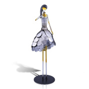 Tooarts Metal Sculpture Figurine Statue Ornament Crafts Home Decorations Living Room Decorations Office Decorations, Singing Girl