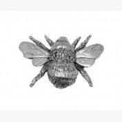 Pewter Bee Pin Badge or Brooch Gift for Scarf, Tie, Hat, Coat or Bag by Pageant Pewter
