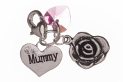 Handmade Beautiful Mummy Clip on Charm with Pink Box by Libby's Market Place