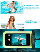 Minhe Patented Universal Waterproof Phone Case, Sport Armband and Dry Pouch with Free Lanyard,Best Waterproof for All Mobile Device & Valuable Pouch
