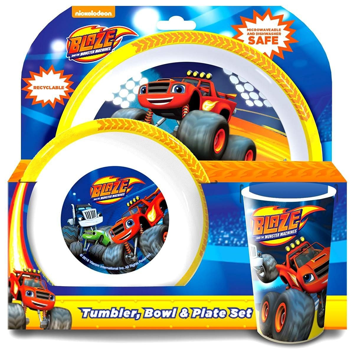 Blaze and the Monster Machines 6-Piece Dinner Set | Tumbler Bowl Plate Knife Fork and Spoon by Blaze and the Monster Machines - Shop Online for Kitchen ...  sc 1 st  Fishpond & Blaze and the Monster Machines 6-Piece Dinner Set | Tumbler Bowl ...