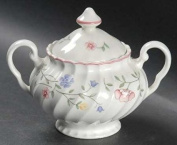 SUMMER CHINTZ JOHNSON BROS 2 HDL COVERED SUGAR BOWL NEW O.35L