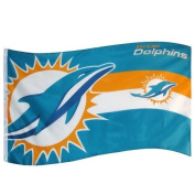 Nfl Football Miami Dolphins Horizon Flag - 0.9m By 1.5m Supporters Flag