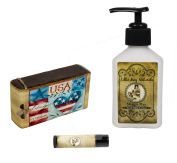 Lillie May Naturals American Pride Maggie May Goat Milk Soap and Lotion with Lip Balm Gift Set