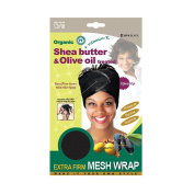 Qiftt Shea Butter & Olive Oil Extra Firm Mesh Wrap #819 Black