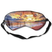 Sunset Beach Natural Silk Deep Rest Eye Mask For Travelling