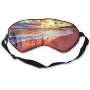 Sunset Beach Natural Silk Deep Rest Eye Mask For Blocking Out Lights
