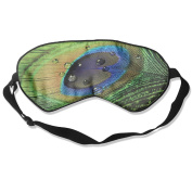 Peacock Feather Natural Silk Eye Sleep Mask For Travelling