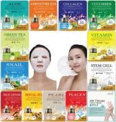 [OBS lab] 12 pcs Ultra Hydraiting Essence Mask + 1 pcs Slik Therapy Hand Mask, ( 13 pcs Total ), Korean Facial ask Sheet, Skincare Moisturising