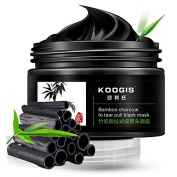 KOOGIS Bamboo Charcoal To Tear Pull Black Mask Blackhead Removal Mask Deep Clesing Acne Facial Nose