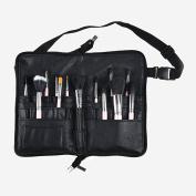 BestFire Professional Makeup Brush Bag Case Portable 22 Pockets Cosmetic Brush Holder Organiser with Artist Belt Strap PU Leather
