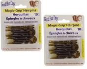 Magic Grip Hair Pins 2 Packs of 10 by Good Hair Days