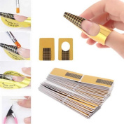 Canserin 2016 100Pcs Nail Art Tips Extension Forms Guide French DIY Tool Acrylic UV Gel