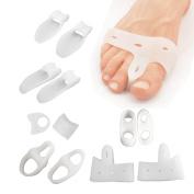 Sumifun 12PCS Bunion Splint Big Toe Separator, Overlapping Spreader Corrector, Bunion Adjuster Hallux Valgus Alignment and Bunion Pain Therapeutic Relief Relaxing