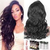 Sunwell Brazilian Virgin Hair Deep Body Wave Lace Front Wig with Baby Hair for Black Women Natural Black 36cm