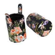 FUA Peony PU Leather Cup Holder Storage Case for Makeup Brushes Tool