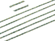 COIRIS 10m Copper Emerald Seed Beads Chains Findings Fit for Jewellery Making & DIY
