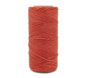 BURNT ORANGE 1mm Waxed Polyester Twisted Cord Macrame Bracelet Thread Artisan String