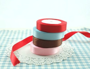 Astra shop 4 Spool Satin Ribbon, 2cm by 24-Yard Each Spool for Arts & Crafts Homemade DIY Projects,Gift Packaging